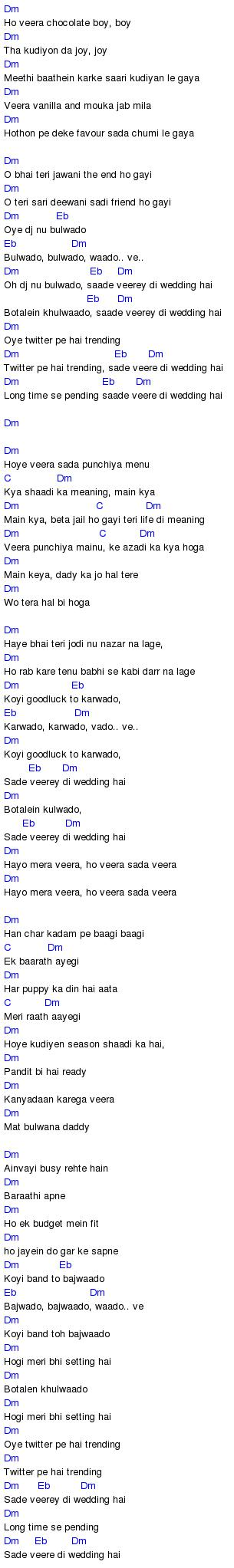 Veerey Di Wedding Chords Entertainment Tab And Chord