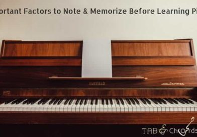 Important Factors to Note & Memorize Before Learning Piano!